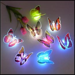Noche de mariposa en Línea-Noche cambiante colorido de la mariposa LED de luz de la lámpara del partido del hogar habitación Información turística decoración de la pared LLWA199