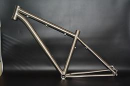 Wholesale Manufacturing er er er titanium mtb mountain bike frame gr9 Ti3al2 v directly from China supplier