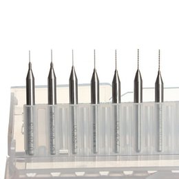 Promotion forets en métal 7 tailles 0.2mm à 0.5mm de haute qualité Mèches pour Nozzle 3D Printer Cleaning Kit Reprap avec étui de protection en plastique Nouveau