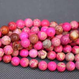 Jasper Natural Stone Pink Gemstone Emperor Imperial Jasper Beads Round Smooth Beads Wholesale Price Women Necklace Making Jewelry