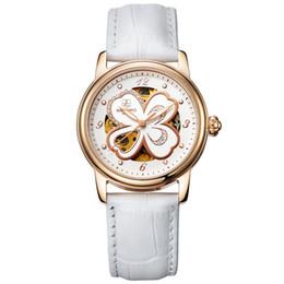 Promotion bracelet en cuir véritable 6 Styles montre mécanique en cuir véritable watchband luxe montres automatiques des femmes d'expédition Femmes Wristwatch Cadeau Paquet gratuit