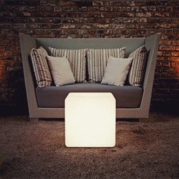 35CM unbreakable led Furniture chair table Magic lights LED Remote control square cube luminous light for outdoor barstools