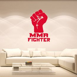 Wholesale Cool UBC International Boxing Tournament Strong Fighter Fist Graphic Vinyl wall Sticker