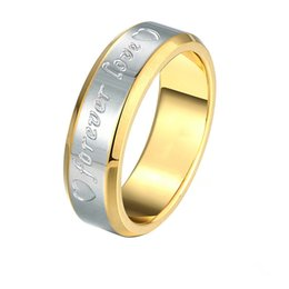 Fashion Ring 316L Stainless Steel Gold And Silver Forever Love Rings Custom Factory Outlets Free Shipping