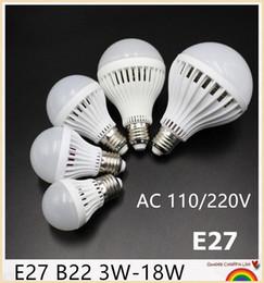 YON 10PCS Led lamp SMD 5730 3W 5W 7W 9W 12W 15W 18W led bulb 110V 220V 230V 240V LED E27 B22 Cold white warm white LED lights