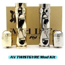 Wholesale AV TWISTGYRE TWIST GYRE Mechanical Mod Matching RDA Kit Clone Best Quality fit battery Electronic Cigarettes Thread DHL Free