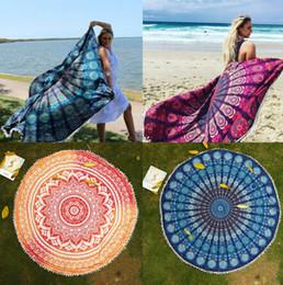 Wholesale Round Mandala Tapestry Indian Wall Hanging Beach Throw Towel Yoga Mat Picnic Blanket Shawl Bohemia Decor Carpet Rug Tapestry