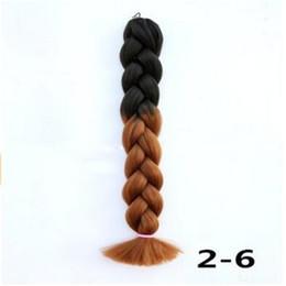 Cheap 1pc Ombre Two Tone Weave Hair in Braid Kanekalon Braiding Hair Queen Hair Products Synthetic Hair Extension Marley Twist Jumbo Braid