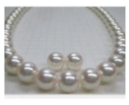 Wholesale classic 11- 12mm natural south sea white pearl necklace 18inch free earring 14k gold clasp