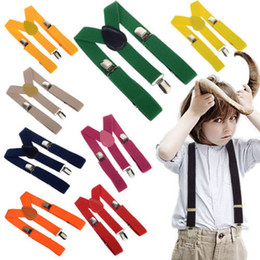 Wholesale Children Straps Cute Elastic Boys Girls Clip on Suspenders Clothing Kids Cool Vintage Fashion Y Shape Adjustable Braces High Quality Braces
