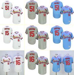 Wholesale Men s Willie McGee Randal Grichuk Kolten Wong White Grey Blue Baseball Jerseys Top Quality Drop Shipping