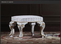 Antique classic furniture manufacturer living room classic foot stool-classic wood furniture-royal furniture - home furniture Free shipping