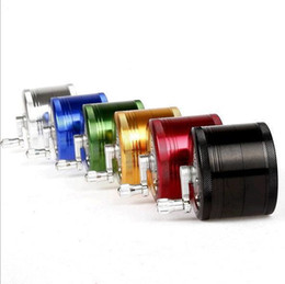 Wholesale Herb Grinder Handle MM Aluminium Parts Herb grinder with Handle Clear Top Supplier WX D