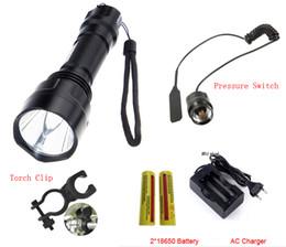Wholesale new best price lumens C xml t6 high power led flashlight Charger battery Holster LED Torch Light Lamp