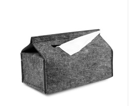 Wholesale 6pcs Fashion brief felt tissue box car fashion tissue cover drop shippi Can be customized and adding logo