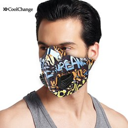 2016 CoolChange Cycling Mask With Filter 9 Colors Half Face Carbon Bicycle Bike Training Mask Mascarilla Polvo Mascaras Ciclismo