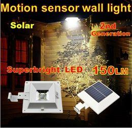 Compra Online Luces led solar led solar-Solar mayor-al aire libre con sensor de movimiento del panel super luminoso LED de la calle vía decoración de la luz de la lámpara de la cerca del jardín de pared de luz solar
