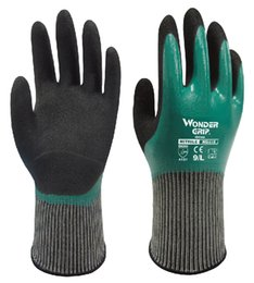 Wholesale Chemical Resistant safety glove nitrile full dipped labor glove oil resistant working glove comfortable antibiotic work glove