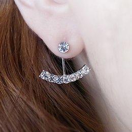 Wholesale Stud Earrings For Women Brincos Pendientes Earings Bijoux Fashion Arc EarringWedding Jewelry Silver Gold Channel Earrings