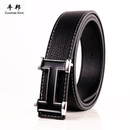 Wholesale new Best Quality First Class real pu men black designer Belts For men Luxury Belts Alloy Buckle