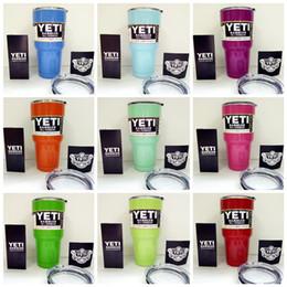 Wholesale Yeti oz Coolers cup powder Coated ss YETI Rambler Tumbler Travel Vehicle Beer Mug Bilayer Vacuum Insulated cups cooler Multi Color