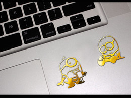 Wholesale-3pcs lot Hot movie Minions reactor metal stickers 3D Nickel Alloy Metal Sticker phone stickers Car Computer sticker