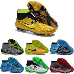Wholesale Hombres Nike Magista Obra FG con el CAC de fútbol Botas grapas del láser de los zapatos de los hombres original de fútbol Zapatos de fútbol
