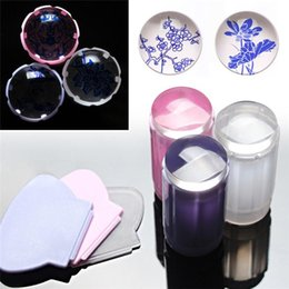 Wholesale New Arrivals cm DIY Nail Art Templates Stamping Stamper Scraper Image Plate Manicure Tools Kits Plastic ID8