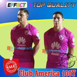 Wholesale 2016 LIGA MX Club America year commemorative Pink soccer jerseys R SAMBUEZA O PERALTA P AGUILAR away red pink football shirts