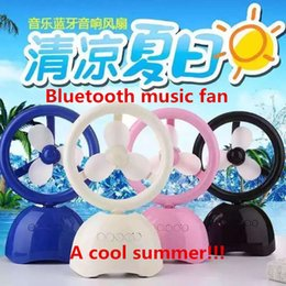 Wholesale new bluetooth stereo Stereo bluetooth USB fan playing flash memory storage Speed wind fan DHL