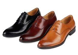 Wholesale Coffee brown Black mens wedding shoes fashion mens business shoes genuine leather mens dress shoes mens oxfords