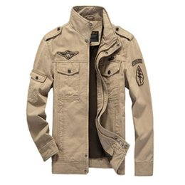 Wholesale The new brand military man army jacket plus size3XL cost sports coat embroidered jacket for men aviation industry Militare