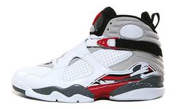Wholesale 2016 air retro Men Basketball Shoes high Quality retro VIII AQUA Chrome Playoff Sneakers sport shoes athletics boots Size eur