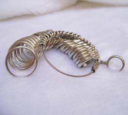 Silver Ring Sizer Finger Sizing Measuring Metal Ring Mandrel US Size New