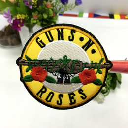 Wholesale new arrive music quot GUNS N ROSES quot Rock Band Iron On Sew Applique Embroidered Patch