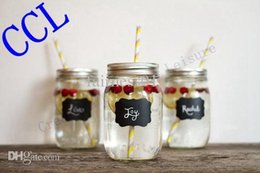 Wholesale Fashion pieces Fancy Mason Jar Wedding Chalkboard Labels Wine Glass Drink Cup Label diy Reception Decoration idea