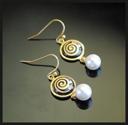 Femmes top perle à vendre-Boucles d'oreilles boucles d'oreilles boucles d'oreille en or 18 carats Boucles d'oreilles boucles d'oreilles boucles d'oreilles en boules