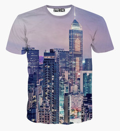 Newest style New York city famouse building printed 3d t shirt fashion summer casual men's t-shirt tops camisetas hombre