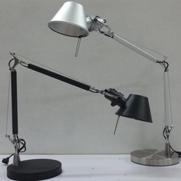 À double lampe de lecture en Ligne-Mode LED debout lampadaire lampe aluminium lampe de bureau simple double bras pour la lecture de lampes de table éclairage de travail avec interrupteur