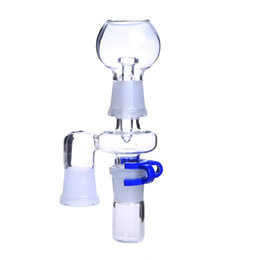 Wholesale Smoking Dogo Reclaim Ash Catcher mm or mm Male Female Joint Glass Adapter With Keck Clip For Glass Bong Oil Rig