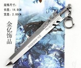 Wholesale Hot Sale Key Ring League Of Legends Ambition Trophy Ryze Model Metal Pendant Chain