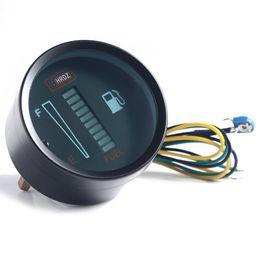 Wholesale mm Fuel Meter LED Digital DC12V Fuel Gauge Fuel Meter LED Digital DC12V Fuel Gauge For Car Motorcycle Instruments
