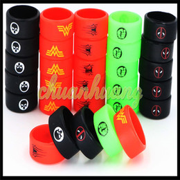 Wholesale Vaporizer Super Hero Vape Band Decoration Protection Rubber silicon rings for Tank bottle Mod custom silicone vape band new ecig accessories