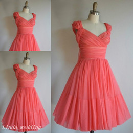 Simple Pretty Short Coral Bridesmaid Dress A Line Chiffon Maid of Honor Dress For Wedding Party Gown