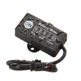 Wholesale LED BAR display mini battery meter battery indicator V for motorcycle golf carts test voltage of battery