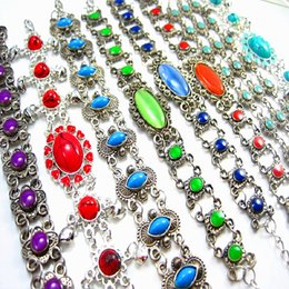 Wholesale Brand New Women s Beautiful Retro mixed styles Ladies Jewelry cuff chain Bracelets job