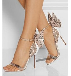 2016 New In Celebrity Fashion Show Club Butterfly High Heels Open-toed Sandals