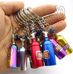 Car Styling Colorful NOS Nitrogen Gas Acceleration system Cylinder bottle Keychain Keyring Key Ring Chain JDM Universal
