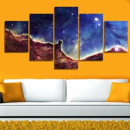 Wholesale 5 pieces Abstract star sky HD high quality beautiful landscape canvas arts for sofa background decor Art Picture