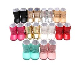 Wholesale 2016 Winter tassel waist tape was soft bottom leisure thick warm toddler boots Sport girl walking boots Minor seventh color in stock E397